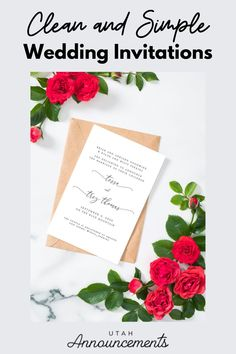 Simplicity is beauty. If you also believe in this saying, this wedding invitation is perfect for you. Stay classy with this design that is accented with a simple play on typography. Wedding Invitation Trends, Simple Wedding Invitations, Simplicity Is Beauty, Stay Classy, Wedding Announcements, Flourish, Swirls, Utah, Typography