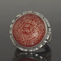 Unique handmade Islamic Talisman Seal of Prophet Sulaiman - Solomon Ring; Hand…