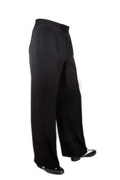 Tango Argentino Hose mit einer Bundfalte. Super chic! Tango trousers, ballroom trousers in black!