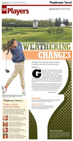 Weathering Changes, golf layout #Newspaper #Design #GraphicDesign