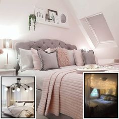 Aesthetic Room Ideas Pinterest With Lights Grey Bedroom Decor Grey Bedroom Design Bedroom Decor Grey Pink