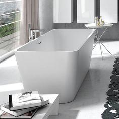 As banheiras freestanding, diferentemente das banheiras de embutir, são uma solução simples para a sua casa de banho, representando menores custos e maior facilidade de instalação. Outra das vantagens destas banheiras modernas é o seu design, direccionado para as tendências mais atuais de decoração. Veja aqui o exemplo da banheira Lux da ARCH Valadares. Bath, Bathtub, Bathroom