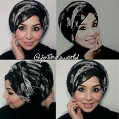 My Go-To Turban Style tutorial |by fatihasWORLD - YouTube