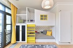 Kids' room without bunk beds is empty of fun and color. The trendy bunk beds these days that are mak Cool Bedrooms For Boys, Girls Bedroom, Bedroom Decor, Bedroom Ideas, Nursery Ideas, Bed Ideas, Shared Bedrooms, Kids Rooms Decor, Bedroom Fun