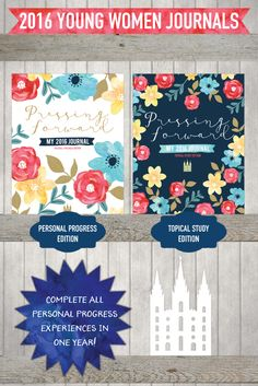 2016 lds young women journals. This is a daily journal and helps them complete all their personal progress experiences in an incredibly meaningful way. Plus they write about the 2016 mutual theme every day!