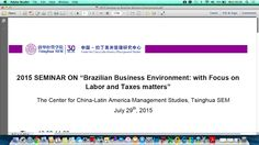 "Blog Ligia Maura Costa: 2015 SEMINAR on ""Brazilian Business Environment: w..."