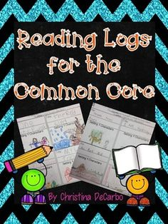 Reading Logs - These Common Core reading logs have endless possibilities in the classroom! Each of the 45 reading logs contain simple directions with picture cues to help students practice and apply comprehension strategies to their independent reading. Comprehension Strategies, Reading Strategies, Reading Skills, Reading Homework, Reading Response, Reading Intervention, Kindergarten Reading, Teaching Reading, Guided Reading