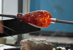 glass blowing | Glass Blowing Iv Photograph - Glass Blowing Iv Fine Art Print