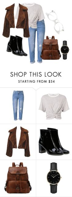 """""""Untitled #60"""" by alexastraznova on Polyvore featuring WithChic, T By Alexander Wang, Yves Saint Laurent and ROSEFIELD"""