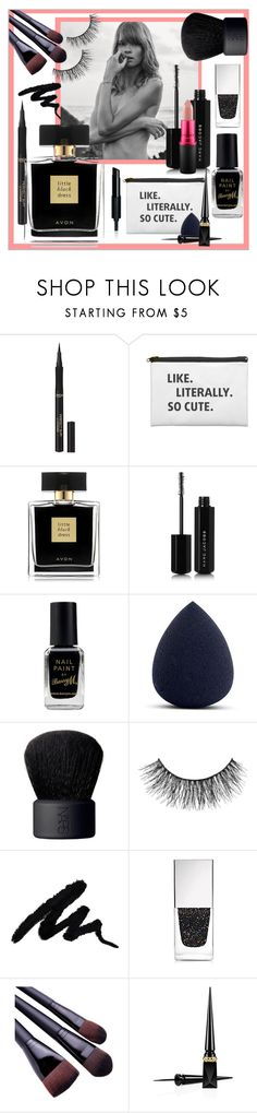"""So cute black with a touch of pink 🌸"" by frenchfriesblackmg ❤ liked on Polyvore featuring beauty, L'Oréal Paris, Avon, Marc Jacobs, Barry M, My Makeup Brush Set, NARS Cosmetics, Miss Selfridge, Givenchy and Christian Louboutin"
