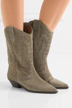 Isabel Marant Étoile Dallin suede cowboy boots
