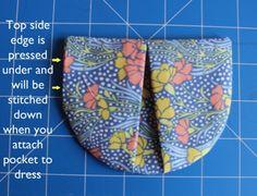 The Perennial Tunic   Sew Mama Sew    pleated pocket tutorial