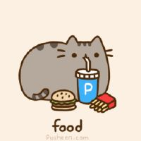 Pusheen the cat FOOD -ahh, Pusheen is munching happily away. Nyan Cat Video, Nyan Cat Costume, Pusheen Love, Pusheen Gif, Image Chat, Cat Scarf, Kawaii Cat, Kawaii Alpaca, Cat Birthday