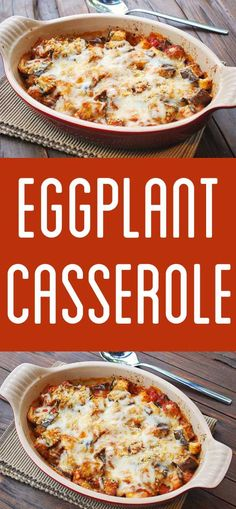 Delicious hearty eggplant casserole can easily serve as a very filling meatless entree. The combination of eggplant tomato sauce and cheese is wonderful. Vegetable Recipes, Vegetarian Recipes, Cooking Recipes, Healthy Recipes, Egg Plant Recipes Easy, Easy Eggplant Recipes, Healthy Food, Healthy Eggplant, Vegan Food