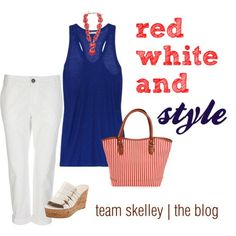 fourth of july fashion | patriotic style | #katiedskelley