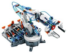 A series of Robot Kits for the future engineer. Build this kit and find out how much fun electronics, mechanics or hydraulics can be! Set your first steps in the world of hydraulics. How does this equate to fun? Children will have total command and visual manipulation using the science principles of a hydraulic system and its application.