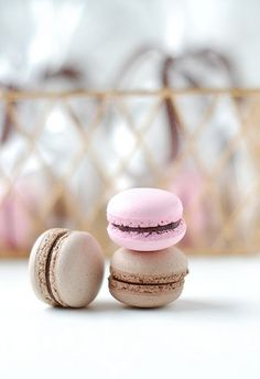 Macaron #Pink And Brown