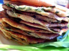 Placky s medvedím cesnakom (fotorecept) Pancakes, Tacos, Pizza, Breakfast, Ethnic Recipes, Food, Morning Coffee, Essen, Pancake