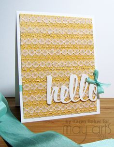 Card Making - Custom Lace Backgrounds
