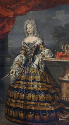 Maria Anna of Neuburg and the Palatinate. Queen of Spain. Wife of Charles II of Spain. 17th Century Fashion, 18th Century, Spanish Royal Family, Spanish Fashion, Baroque Fashion, Portraits, Portrait Paintings, Historical Costume, Woman Painting