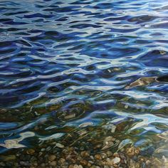 Peter Goodhall > TRANQUILLITY XII - A large canvas, clear water - a favourite and much loved subject. Painted in oils on a fine linen canvas using a combination of layering, blending and glazin...