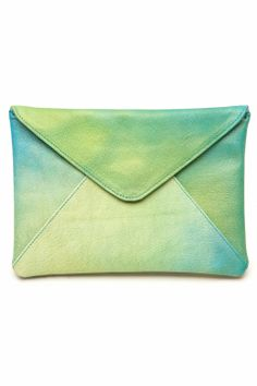 Loveletter envelope bag - green-blue