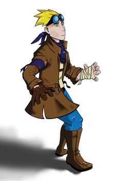 Character Concept by Joshua Steen, via Behance