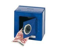 Kids Lockable Blue Metal Combination Money Bank Safe 13 x Bank Safe, Board For Kids, Busy Board, Money Bank, Play To Learn, Fujifilm Instax Mini, Goku, Washing Machine, Kids Shop
