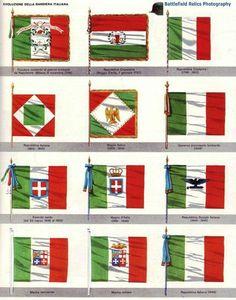 Evoluzione della bandiera italiana