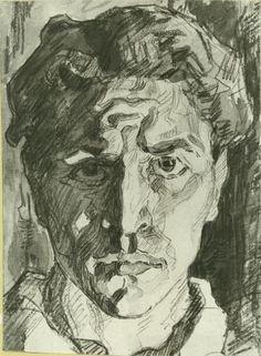 Александр Дейнека. «Автопортрет». 1916 г.
