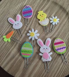 Felt Easter Planner Clips by BookmarkBitches on Etsy