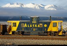RailPictures.Net Photo: ARR 1093 Alaska Railroad Caboose at Brookman, Alaska by Frank Keller