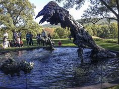"""Here is """"Mother and Child"""". Linda Benglis: Water Sources at the Storm King Arts Center. #sculpture #fountains"""