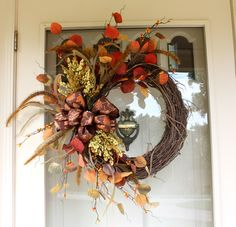 A new fall wreath makes my front entrance ready for guests.