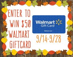 Enter to win a $50 Walmart Giftcard | Ends 9/28 US Only | by Utterly-Amazing.com