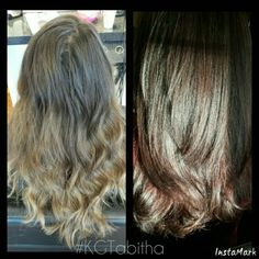 Grown out and drab, to a rich chocolate brown