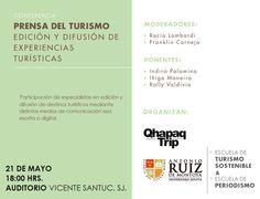 Conferencia en la Universidad Antonio Ruiz de Montoya de Lima. Se realizará el jueves 21 de mayo, a las 18 horas.