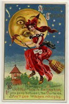 halloween postcard images