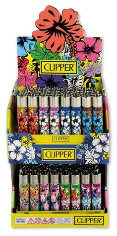"Tankstellen Großhandel, Trafikantenbedarf, Zigarettenpapier Großhandel, Tankstellenbedarf, Geschenkartikel Großhandel | CLIPPER LG Feuerzeuge ""Flower-Power""; VE:96"
