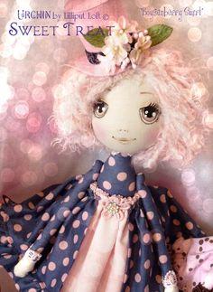 Art Doll OOAK - Boysenberry Swirl