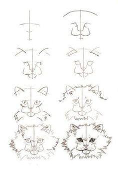Katzen zeichnen Schritt für Schritt - Anleitung-dekoking-3