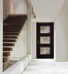 modern door Entryway Mirror, Entryway Lighting, Entryway Decor, Entry Way Design, Entrance Design, Casement Windows, Windows And Doors, Exterior Doors, Entry Doors