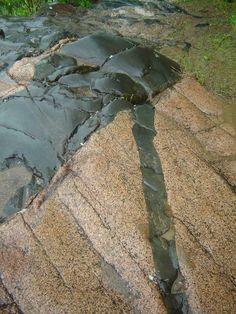 Diabase dike cutting Red Cloud Granite in Minnesota