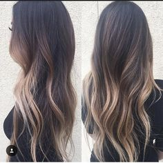 When I have long hair again Hair Color And Cut, Hair Colour, Hair Affair, Brunette Hair, Balayage Hair, Bayalage, Hair Dos, Gorgeous Hair, Dark Hair