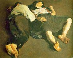 Peaceful Sleep by Corneliu Baba    Born: 18 November 1906; Craiova, Romania  Died: 28 December 1997; Bucharest, Romania  Post-Impressionism  private collection