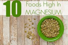 Are you magnesium deficient? Did you know that 60% of Americans are deficient in this important ingredient? Below is a list of 10 foods high in magnesium.