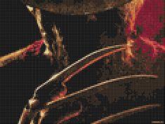 Freddy Krueger - Nightmare On Elmstreet (30 Colors) Cross Stitch Pattern
