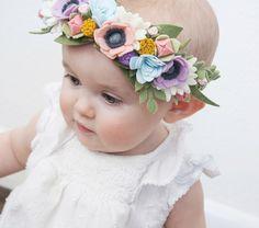 "Felt Flower Crown - ""Secret Garden"" - One Crown by littleflohra on Etsy https://www.etsy.com/listing/275277082/felt-flower-crown-secret-garden-one"