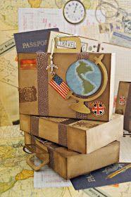 """¡Que me gusta a mí un tema viajes!   Todo lo que tenga que ver con """"Travel theme"""" me requetencanta. Estoy obsesionada con los sellos de viaj..."""