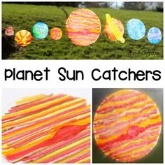 These planet sun catchers are a fun space craft for kids to make during a space theme